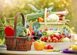 Свежие фрукты и овощи при гастрите