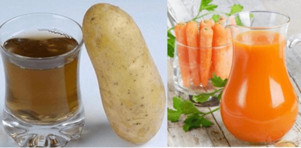 Картофельный, морковный соки