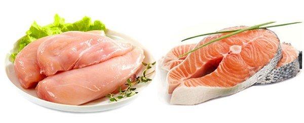 Врачи рекомендуют отдавать предпочтение нежирным сортам мяса - птице и рыбе.